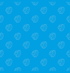 smart watch pattern seamless blue vector image