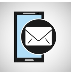 Social media mobile app email icon vector