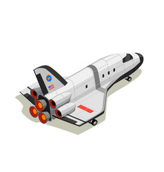 Space shuttle isometric composition vector