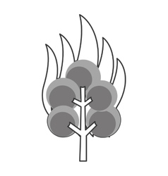 tree on fire icon vector image