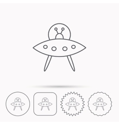 UFO icon Unknown flying object sign vector image