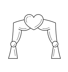 wedding arch line icon vector image