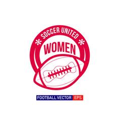 women football logo template design vector image