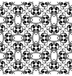 Abstract monochrome seamless hand-drawn pattern vector image vector image