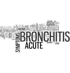 acute bronchitis symptom text word cloud concept vector image vector image