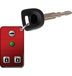 Alarm car keys on chain vector image