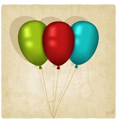 flying balloon old background vector image vector image