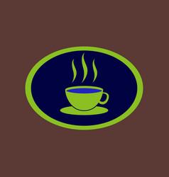 icon in flat design logo coffee cup vector image vector image