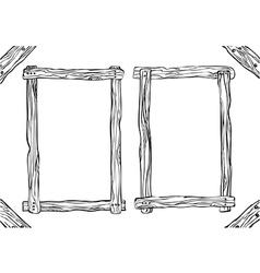 Set frame black white vector