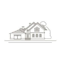Sketch design of house vector
