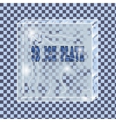 transparent ice plate vector image vector image