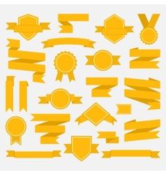 Yellow ribbons set II vector image