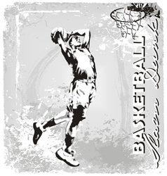 basketball slam dunk vector image vector image