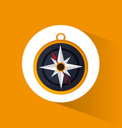 compass location navigation icon vector image vector image