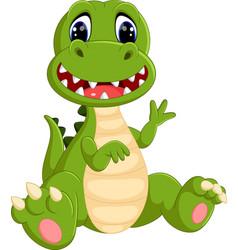 cute dinosaurs cartoon vector image