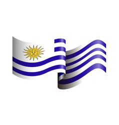 Isolated flag of uruguay vector
