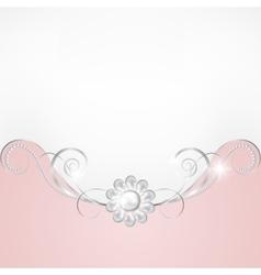 Jewelry border vector