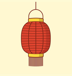 lantern icon chinese or japanese red lantern vector image vector image