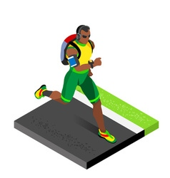 Marathon Runners Gym Working Out Isometric Image vector image vector image