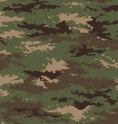 Pixel camouflage woodland green seamless pattern vector image