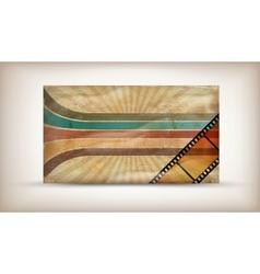 retro card vector image vector image