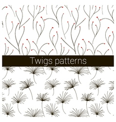 twigs patterns vector image vector image