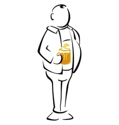 Beer drinker vector