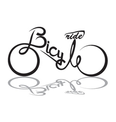bicycle image vector image vector image