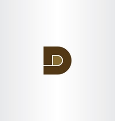 brown letter d icon logo design vector image