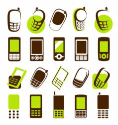 mobile phones design elements vector image vector image