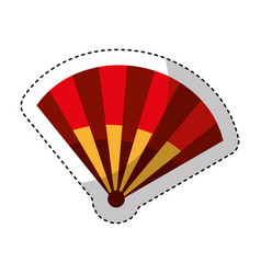 typical fan spain icon vector image