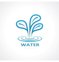 water splash vector image