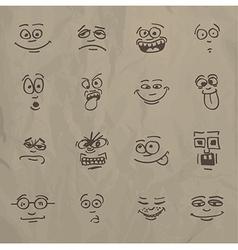 Emoticons vector image