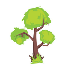 tree with green foliage isolated on white vector image