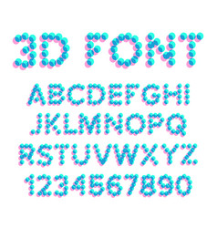 3d effect pixel stereo font distortion vector image