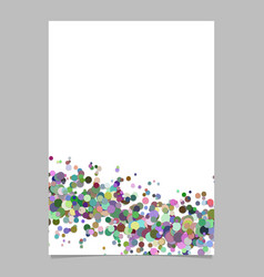abstract blank wavy confetti poster background vector image