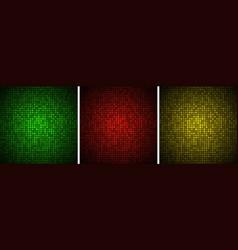 Abstract gradient glow circular dots backgrounds vector