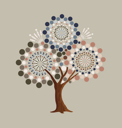 abstract retro shape tree concept vector image