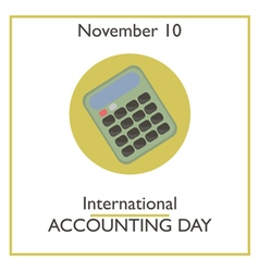 Accounting Day vector