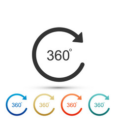 angle 360 degrees icon on white background vector image