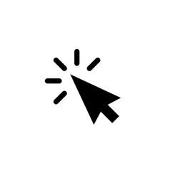 Arrow pointer or click button icon vector