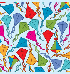 Background pattern with kites vector