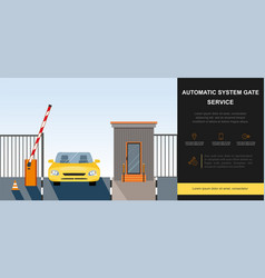 Barrier gate automatic system vector