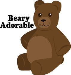 Beary Adorable vector image