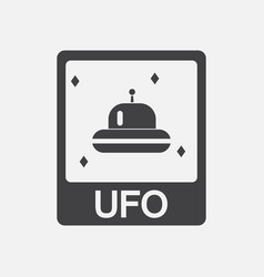 Black icon on white background flying saucer on vector