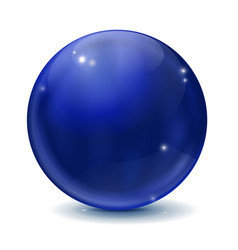 Blue sphere vector