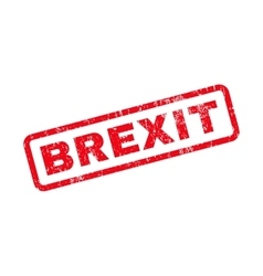Brexit Text Rubber Stamp vector