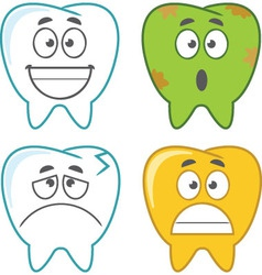 Cartoon Tooth Set - Assorted vector image