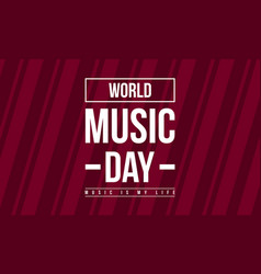 celebration world music day collection stock vector image
