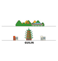 china guilin flat landmarks vector image